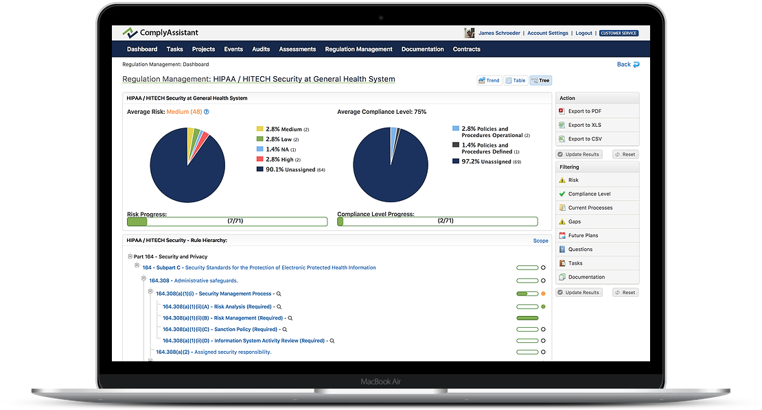 HIPAA compliance with grc software